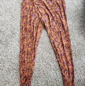 Lularoe fall foral leggings